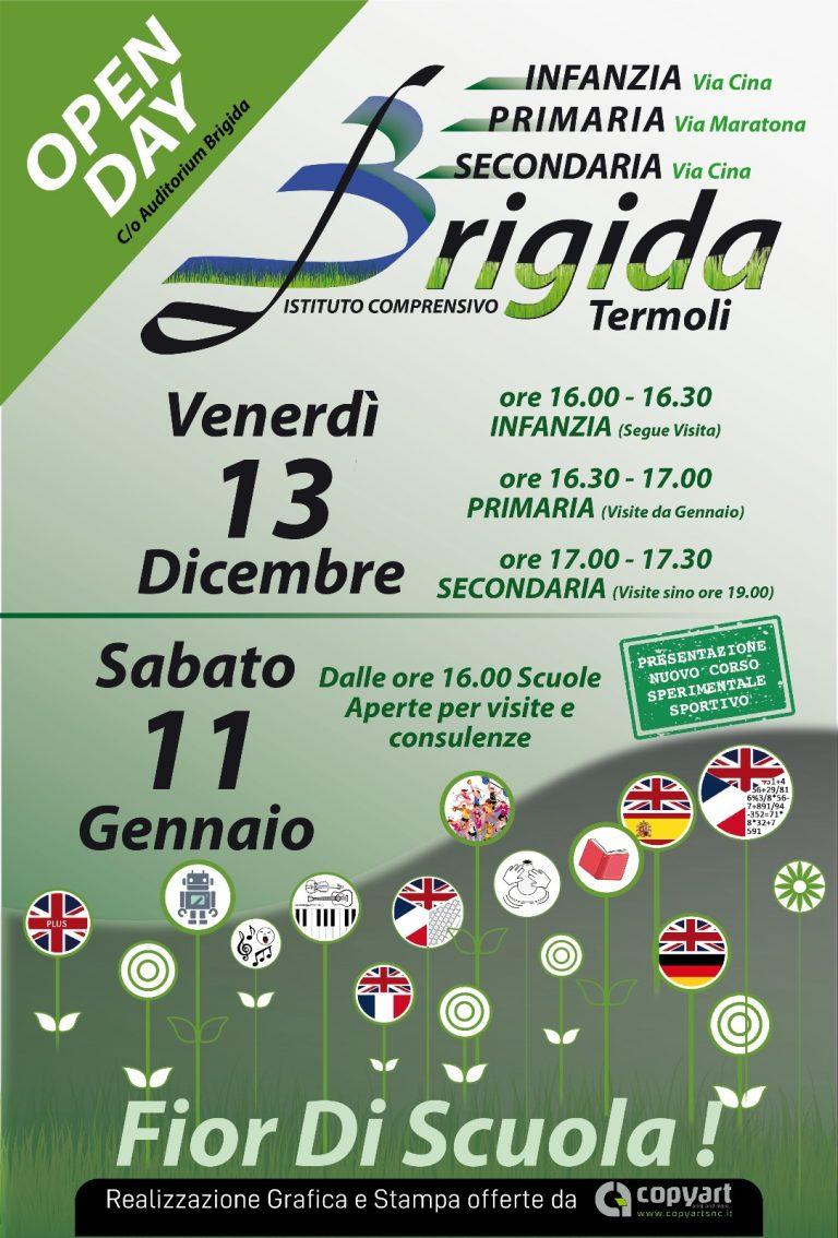 OPEN DAY ISTITUTO COMPRENSIVO BRIGIDA