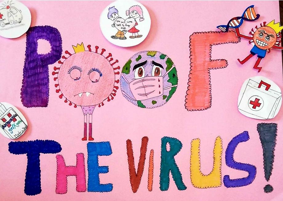 Il coronavirus spiegato ai bambini dagli alunni della 1E