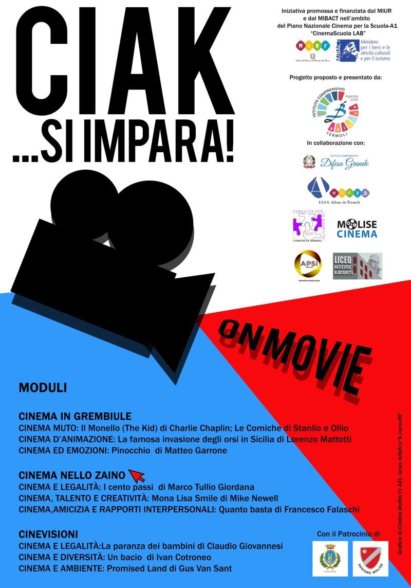 Ciak…si impara, un progetto per favorire buone pratiche educative.  Nasce On Movie, una rete di scuole e associazioni per promuovere la didattica del cinema